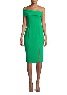 Jay Godfrey Surrey One-Shoulder Crepe Dress