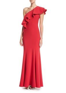Jay Godfrey Taj One-Shoulder Mermaid Gown