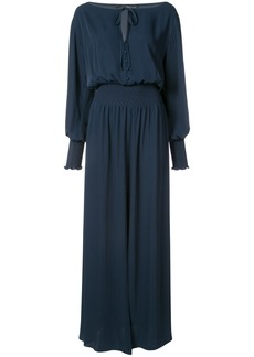 Jay Godfrey tie neck maxi dress - Blue