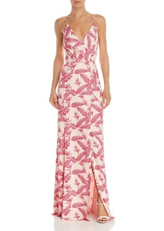 Jay Godfrey Turner Feather-Print Gown