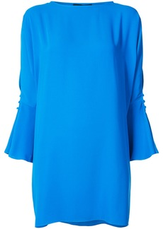 Jay Godfrey Vachon slit sleeve dress - Blue