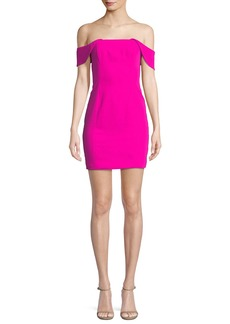 Jay Godfrey Whitney Cutout-Back Mini Cocktail Dress