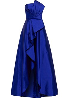 Jay Godfrey Woman Callie Strapless Pleated Taffeta Gown Royal Blue