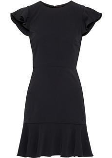 Jay Godfrey Woman Jamison Open-back Ruffled Stretch-crepe Mini Dress Black