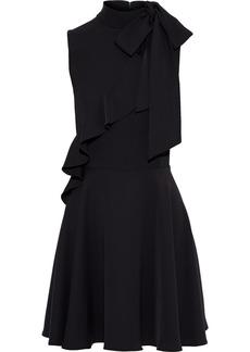 Jay Godfrey Woman Mia Pussy-bow Ruffle-trimmed Cady Mini Dress Black