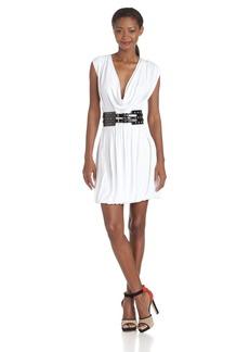 Jay Godfrey Women's Belted Cowl Dress   US