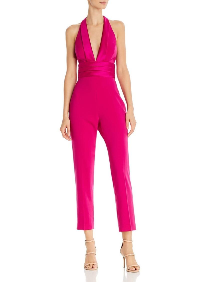 Jay Godfrey Zane Tuxedo-Style Halter Jumpsuit
