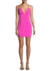 Jay Godfrey Kenora Strappy Crepe Mini Cocktail Dress