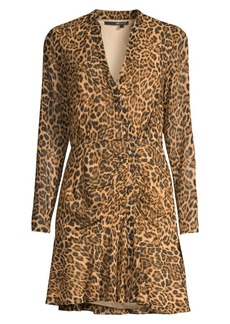 Jay Godfrey Kirk Leopard-Print Mini Dress