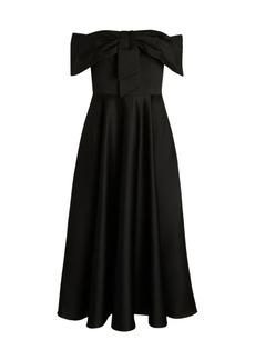 Jay Godfrey Knight Off-The-Shoulder Midi Dress