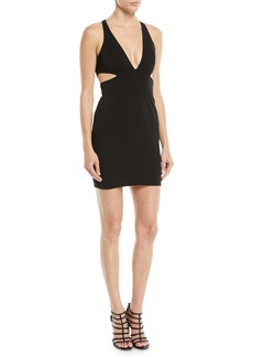 Jay Godfrey Krooger Mini Dress w/ Cutout Back