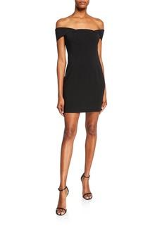 Jay Godfrey Lang Off-the-Shoulder Mini Dress