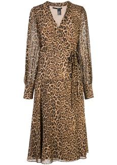 Jay Godfrey leopard-print wrap dress