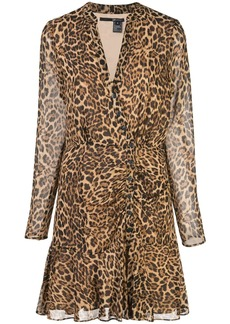 Jay Godfrey leopard-print wrap mini dress