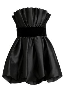 Jay Godfrey Lola Bubble Satin Mini Dress