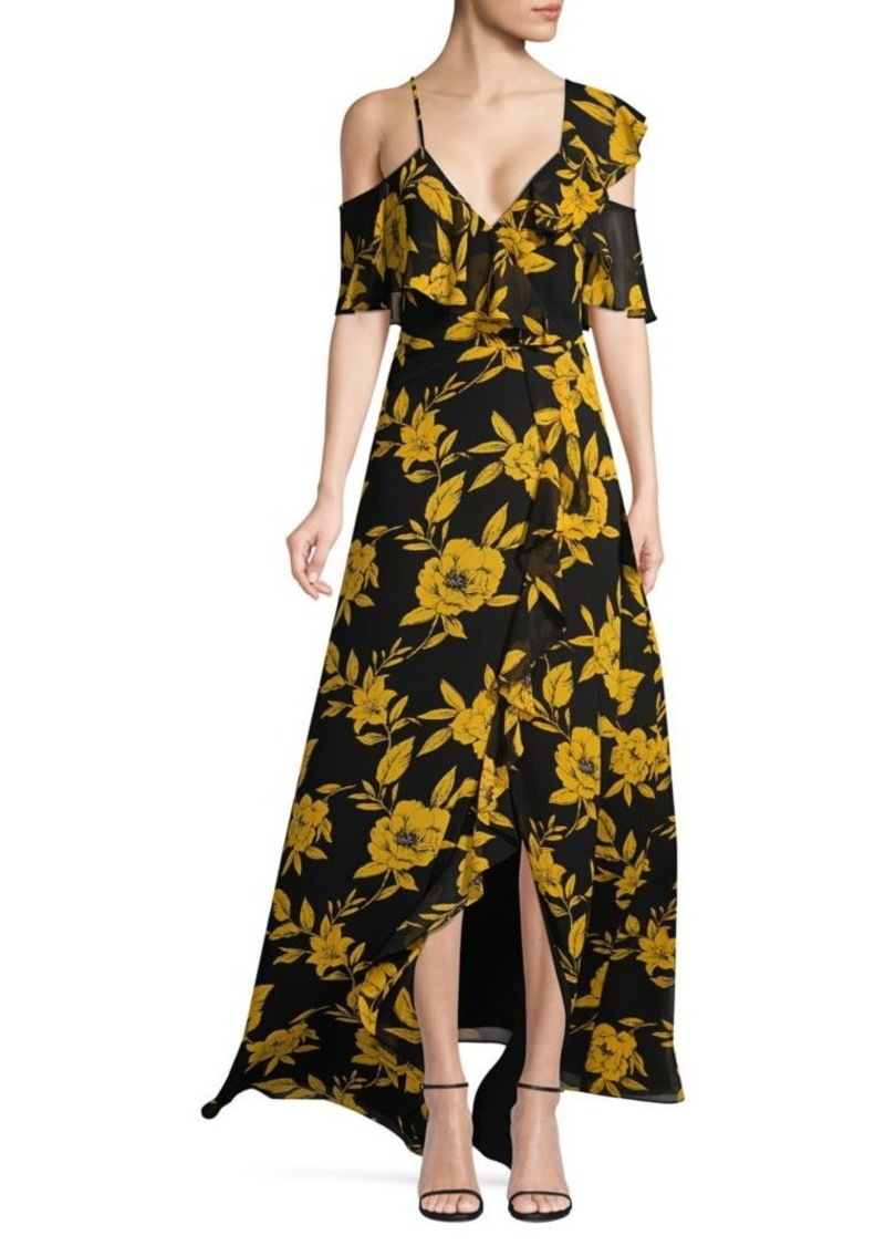 Jay Godfrey Malley Cold-Shoulder Ruffle Dress