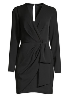 Jay Godfrey Meyer Ruched Long-Sleeve Mini Sheath Dress