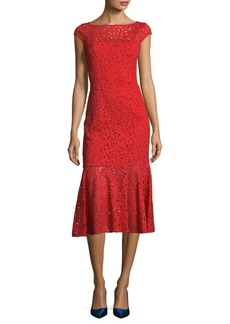 Jay Godfrey Nadal Floral Knee-Length Dress