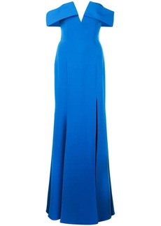 Jay Godfrey off shoulder lapel gown