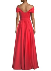 Jay Godfrey Off-the-Shoulder Satin Gown