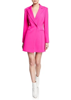 Jay Godfrey One-Button Long-Sleeve Blazer Mini Dress