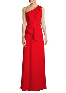Jay Godfrey One-Shoulder Drape Gown