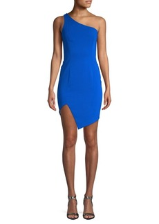 Jay Godfrey One-Shoulder Sheath Dress