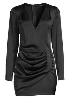 Jay Godfrey Oulette Faux-Wrap Mini Dress