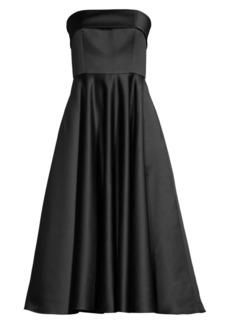 Jay Godfrey Pettigrew Strapless Midi Dress