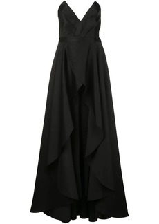 Jay Godfrey pointed bustier gown