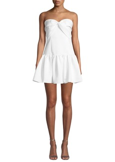 Jay Godfrey Prince Short Strapless Drop-Waist Dress