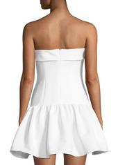 Jay Godfrey Prince Short Strapless Drop-Waist Dress