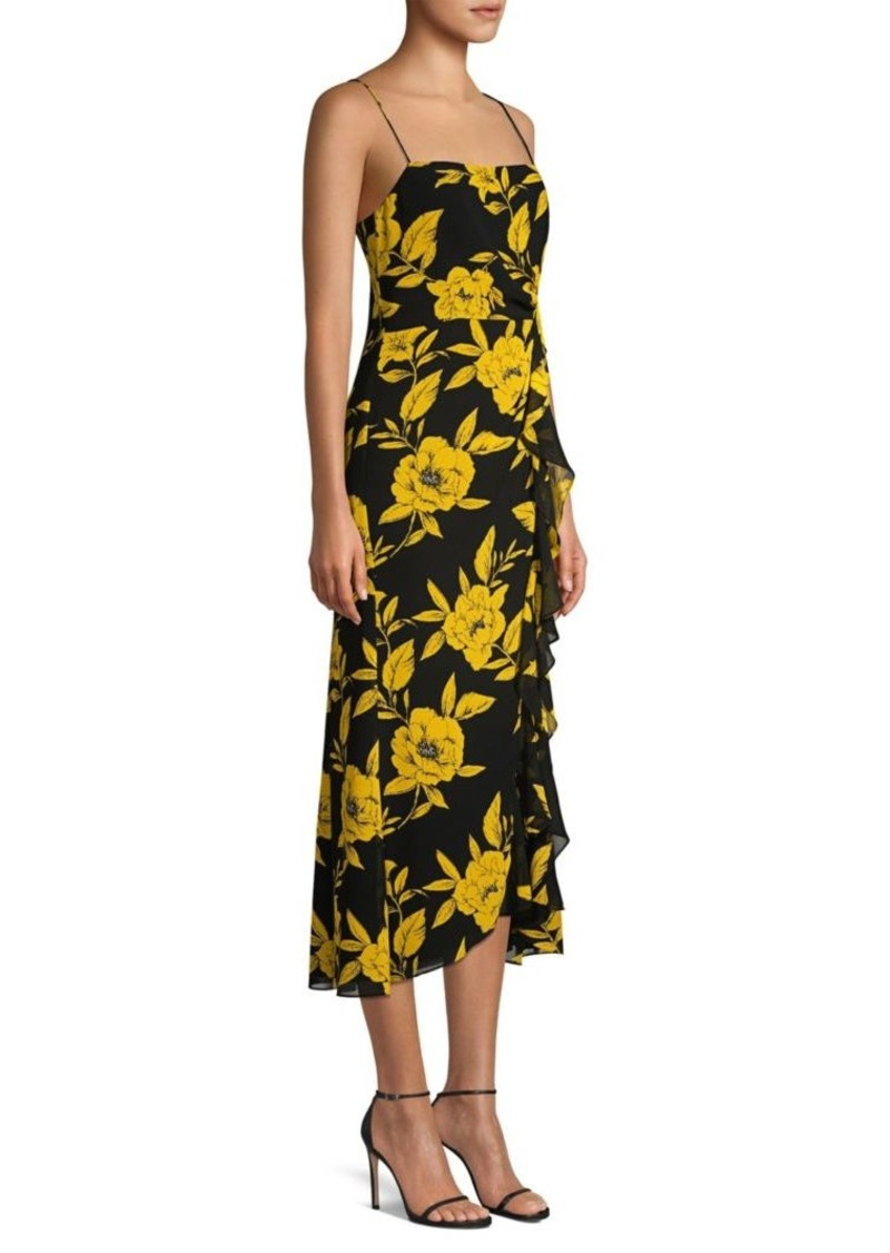 Jay Godfrey Rita Floral Spaghetti-Strap Dress