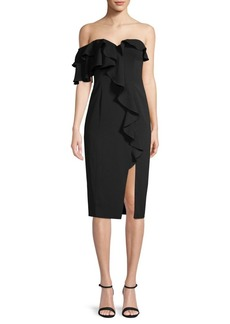 Jay Godfrey Ruffled Sheath Dress