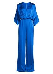 Jay Godfrey Sage Kimono-Sleeve Satin Jumpsuit