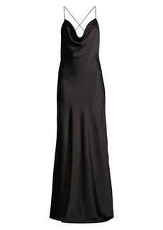 Jay Godfrey Sands Draped Satin Gown