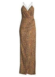 Jay Godfrey Santoro Leopard-Print Column Gown