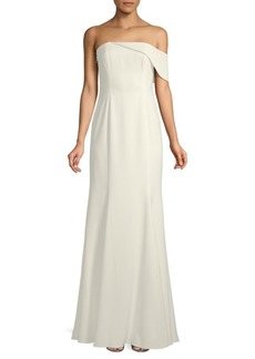 Jay Godfrey Seaworth Asymmetric Strapless Gown