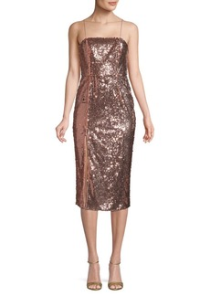 Jay Godfrey Sequin Sheath Dress