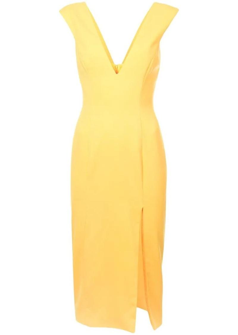 a2015e9bfbf Jay Godfrey side slit V-neck dress