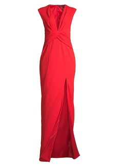 Jay Godfrey Sirena Plunging Gown