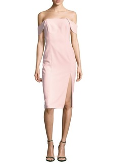 Jay Godfrey Sleeveless Off-the-Shoulder Dress