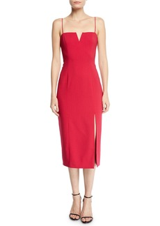 Jay Godfrey Sleeveless Sheath Midi Dress w/ Split