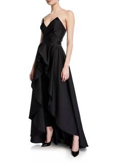 Jay Godfrey Strapless Cropped Jumpsuit & Skirt Set