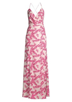 Jay Godfrey Turner Faux Wrap Maxi Dress