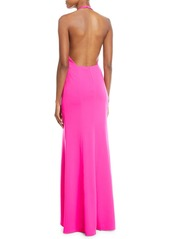 Jay Godfrey V-Neck Halter Column Gown