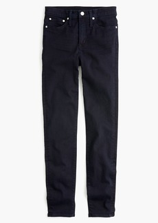 "J.Crew 10"" highest-rise toothpick jean in blue black"