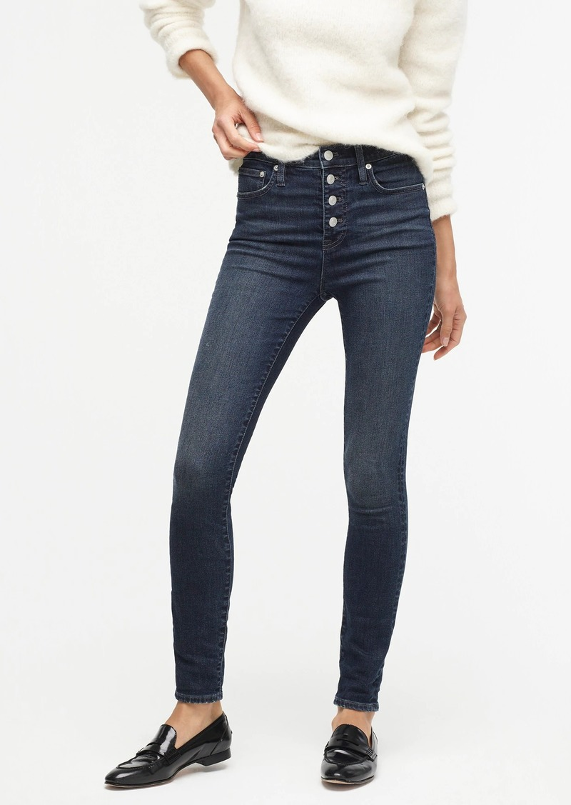 """J.Crew 10"""" highest-rise toothpick jean in sound blue with button fly"""