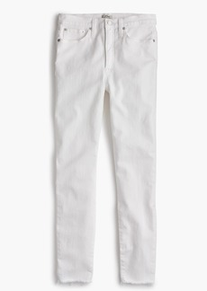 "J.Crew 10"" highest-rise toothpick jean in white"