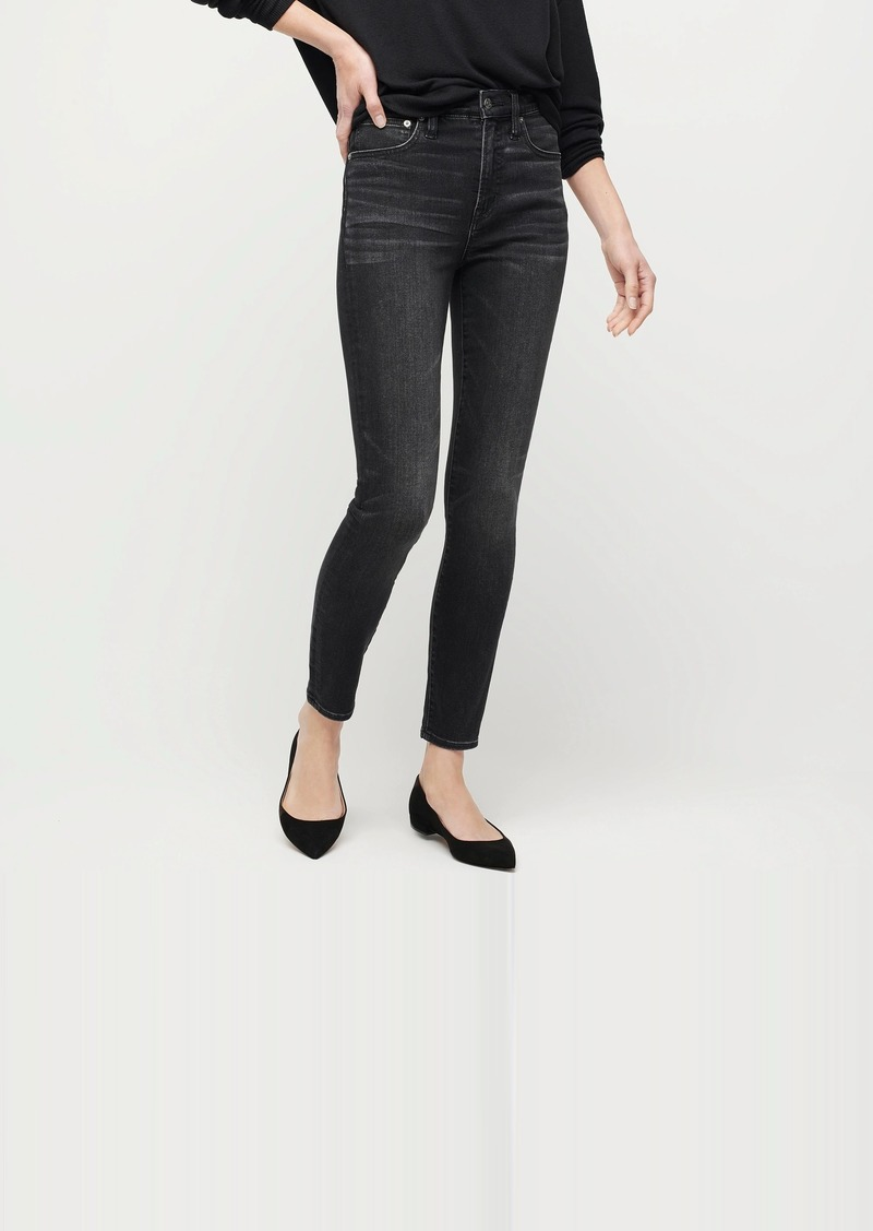 """J.Crew 10"""" highest-rise toothpick jean with TENCEL™ lyocell in charcoal"""